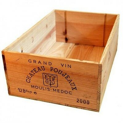 £16.95 • Buy 1 X 12 BOTTLE LARGE FRENCH WOODEN WINE CRATE / BOX  PLANTER HAMPER STORAGE~~~