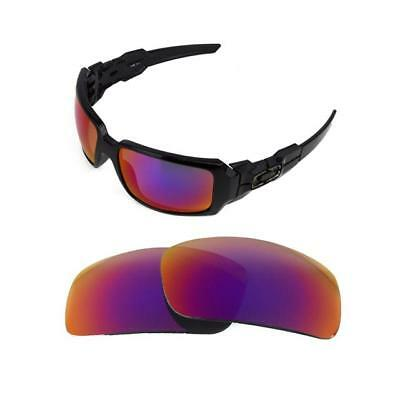 $31.66 • Buy New Polarized Replacement  Light +red Lens For Oakley Oil Drum Sunglasses