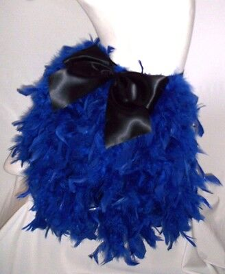 Feather Bustle With Bow. Burlesque, Show Girl. Royal Blue • 15£