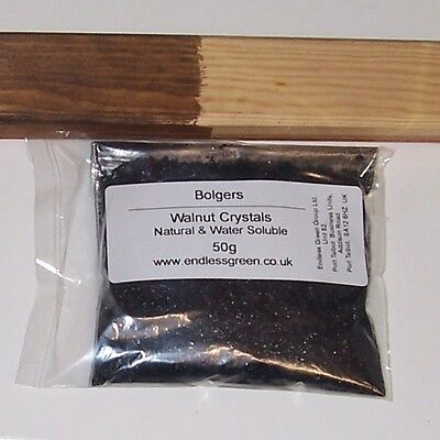 £4.50 • Buy Walnut Crystals - Makes Non Toxic & Odourless Brown Wood Dye - Mix With Water