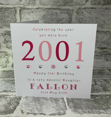 £3.95 • Buy 21st 2000 Year You Were Born 6  Birthday Card Personalised Daughter Mummy Niece