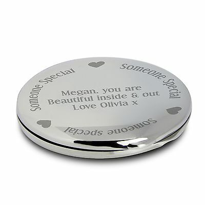 Personalised Engraved Someone Special Compact Mirror - Wedding Favour For Her, • 7.99£