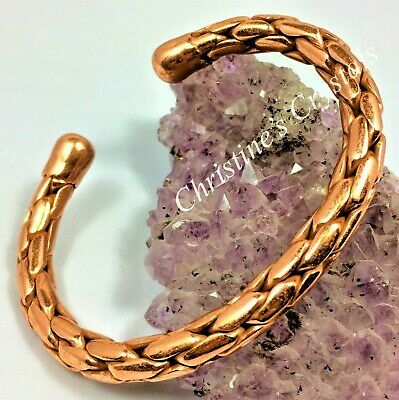 £8.99 • Buy MAGNETIC Solid Copper ENTWINED COPPER Bracelet Healing Pain Relief Arthritis M90