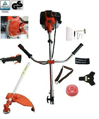 View Details 52 Cc 2 IN 1 PETROL STRIMMER BRUSH CUTTER 3 HP 1 YEAR WARRANTY EXTRA SPARK PLUG  • 92.99£