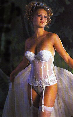£39.50 • Buy SUPER DEALS: Bridal Bustier Jezebel Embroidery Low Back Push Up #8170 White BNWT