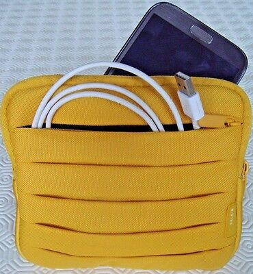 £3.99 • Buy BELKIN 6'' Tablet & Accessories Travel Bag - Padded Pouch Zip Up Sleeve - Yellow