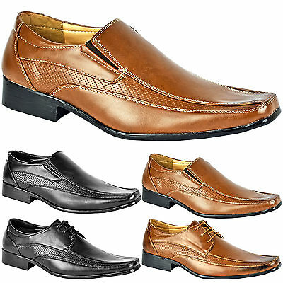 Mens Smart Wedding Shoes Italian Formal Office Work Casual Leather Dress Boots • 10.99£