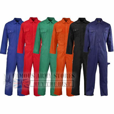 £14.99 • Buy BRITISH Designed Boilersuit Coverall Overalls Workwear Stud Front Mens Adults