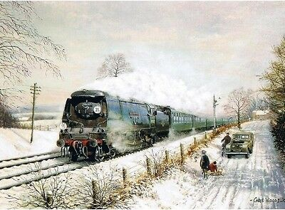 £1.85 • Buy 34007 West Country Southern Railway BR Engine Steam Train Christmas Xmas Card