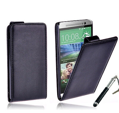 AU6.99 • Buy BLACK Premium Wallet Flip Stand Leather Case Cover For New HTC ONE MINI 2 (M8)