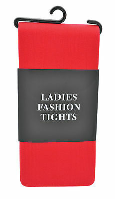 Red Adult Ladies Halloween Fashion Tights Elf  Xmas Party Fancy Dress Costume • 2.99£
