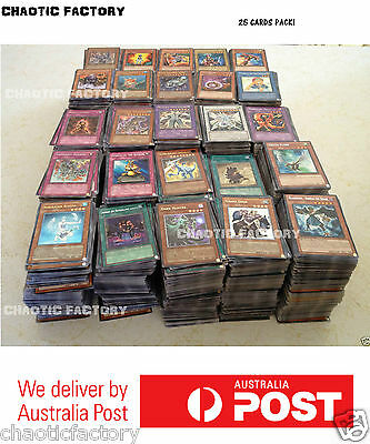 AU5.95 • Buy YuGiOh 25x BULK Cards With Rares & Foils - Genuine Konami Cards, Best Value!