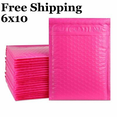 $4.99 • Buy 1-500 #0 6x10 Poly ( Pink ) Color Bubble Padded Mailers Fast Shipping