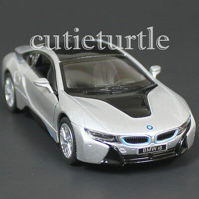 $5.80 • Buy Kinsmart Bmw I8 2 Doors Coupe 1:36 Diecast Toy Car Silver