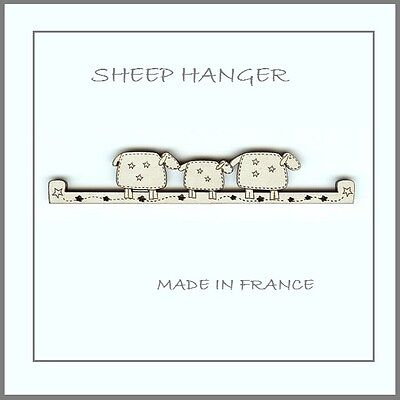 French Wooden Bell Pull Sheep Hanger • 7.15£