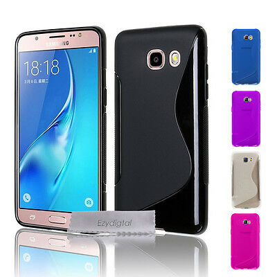 AU4.49 • Buy S CURVED GEL CASE FOR SAMSUNG GALAXY J2 J5 J7 PRIME & PRO + Screen Protector
