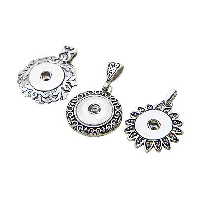 $ CDN46.18 • Buy Wholesale Lots Vintage Silver Alloy Mixed Snap Pendants Fit 18/20mm Buttons