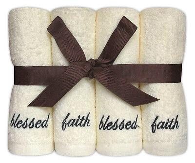 Personalised 8 Piece Face Cloth Gift Set 'Blessed' Embroidered Cotton Flannels • 9.99£
