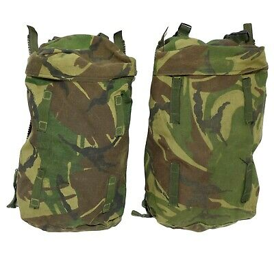 2 X British Army Surplus LARGE Rucksack Side Pouches OLIVE , DPM, MTP • 7.49£
