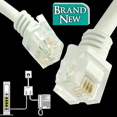 RJ11 To RJ11 ADSL2+ High Speed Broadband Modem Internet Router Phone Cable Lot • 0.99£