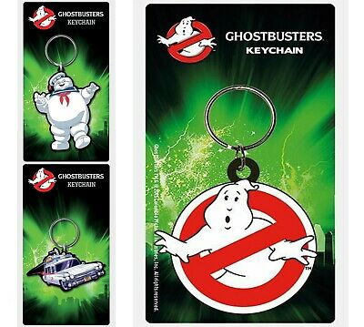 £2.95 • Buy New Ghostbusters Rubber Keyring Keychain Pyramid Gift Stocking Filler UK