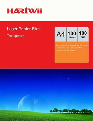AU24.99 • Buy 100 Sheets Transparency OHP Film Acetate Clear A4 For Laser & Copier Hartwii AU