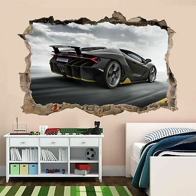 Supercar Sports Car Wall Sticker Mural Decal Kids Bedroom Home Decor AR3 • 18.99£