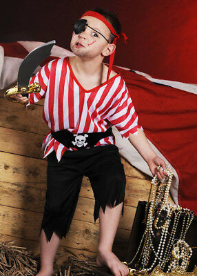 Childrens Pirate Boy Fancy Dress Costume • 12.69£