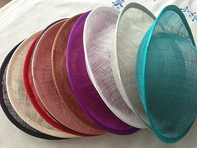 £10.19 • Buy Hat Sinamay Dipped  Base 25*24.5 Cm Great For Making Fascinators/party Hats