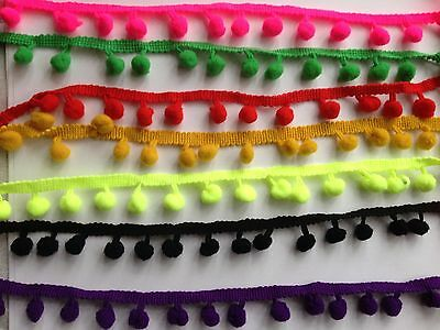 1 Yard 10/12 Mm Ball Pom Pom Trim Braid Fringe Ribbon Edging Craft Decoration  • 2.09£