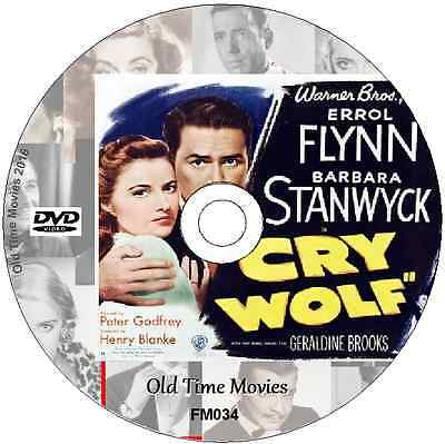 Cry Wolf - Errol Flynn Barbara Stanwyck Mystery Thriller Film On DVD 1947  • 2.29£