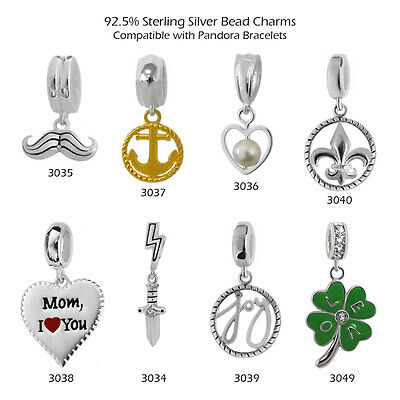 92.5% Sterling Silver Charms For 3 Mm Chain Bracelets & Necklaces #435 • 5.57£