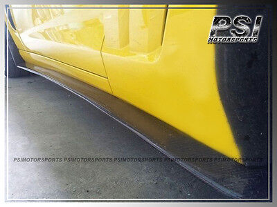 $349.99 • Buy Carbon Fiber Side Skirts Lip For 2005-2013 Chevrolet Chevy Corvette C6 Z06 ZR1