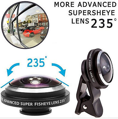 £3.20 • Buy Super 235° Clip On Fish Eye Camera Lens Kits For IPhone 6/ Plus/ 5S/ SE/ Samsung