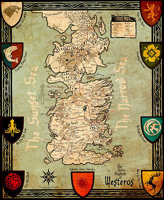 £8.06 • Buy Game Of Thrones ( 11  X 13-3/4  ) Map Collector's Poster Print - B2G1F