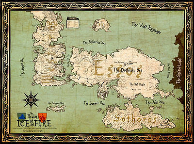 £8.06 • Buy Game Of Thrones ( 11  X 15  ) Map Collector's Poster Print (T5) - B2G1F