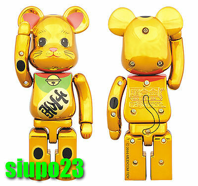 $239.99 • Buy Medicom 200% Bearbrick ~ Bandai Chogokin Be@rbrick Maneki Neko Lucky Cat Gold