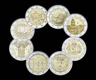 $ CDN40.86 • Buy  Lithuania 8x2 Euro Coin 2015-2016-2017-2018-2019