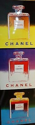 $225 • Buy Chanel Perfume POS Poster Authentic Andy Warhol Artwork