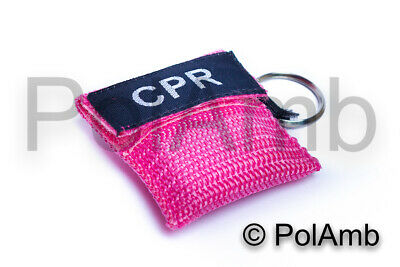£3.79 • Buy CPR Life Key (Pink) / Resusitation Face Shield In Key Ring Pouch Ambulance 999