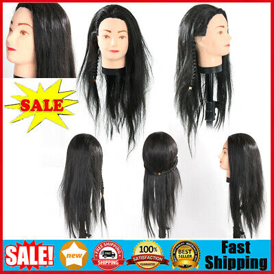 $17 • Buy Professional Human Hair Hairdressing Salon Practice Training Head Mannequin Tool