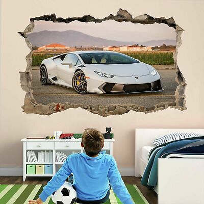 Supercar Sports Car 3D Wall Art Sticker Mural Decal Self-adhesive Poster AS25 • 22.99£