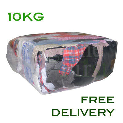 £15 • Buy 10Kg Mixed Rags Wipers Workshop Engineering Cleaning Wiping Industrial Cloths
