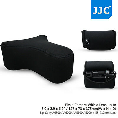 AU19.12 • Buy Camera Pouch Case Bag For Sony A6600 A6500 A6100 A6400 A6300 A6000+55-210mm Lens