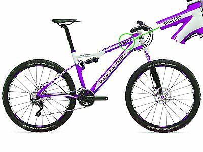 3 X PERSONALISED BIKE BICYCLE FRAME NAME STICKERS FOR CYCLE MOUNTAIN BMX RACING • 1.95£