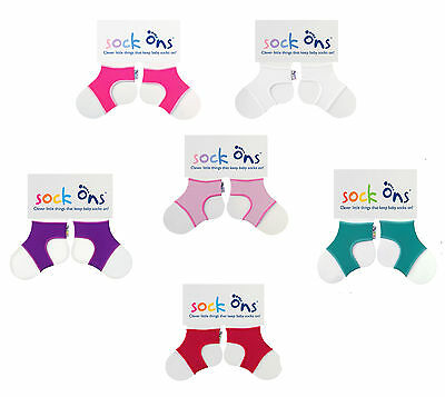 Baby Girls 3 PACK Sock Ons Sock Keepers Size 0-6 Months - Choose Your Colours  • 10.99£