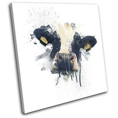 £15.99 • Buy Cow Farm Paint Abstract Animals SINGLE CANVAS WALL ART Picture Print