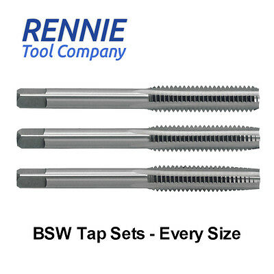 £143.79 • Buy HSS BSW Hand/Machine Tap Sets. Every Size. Sets Of 3. British Standard Whitworth