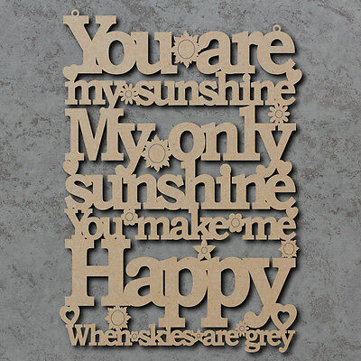 £5.99 • Buy You Are My Sunshine Sign - Laser Cut Wooden Craft Sign