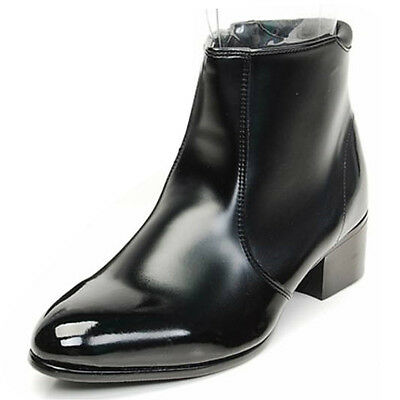 $64.99 • Buy Mens Casual Dress Formal Business Faux Leather Zip Chelsea Ankle Boots Shoes